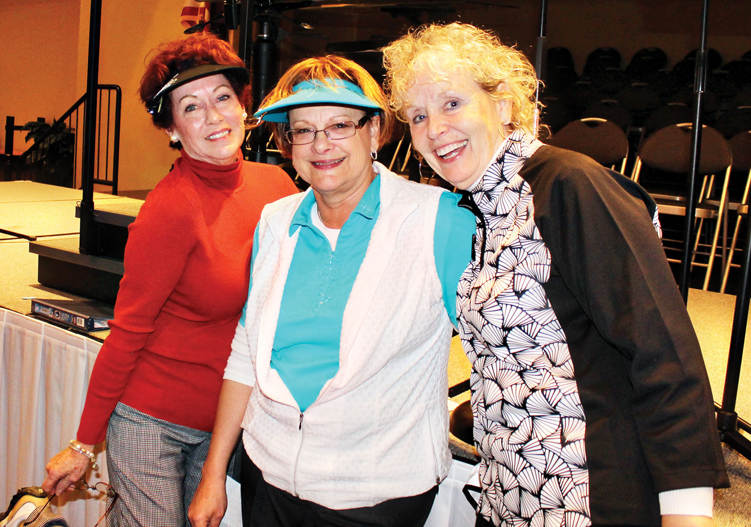 Left to right: Tina Hoffenberg, Janie Farnsworth and Debra Harwell