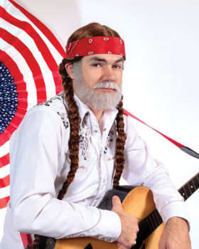 Keith Allynn stars in the Willie Nelson Tribute.
