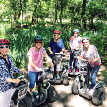 Girls on Wheels hop on Segways for a fun way to discover a new destination.