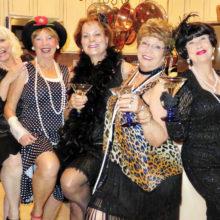 Socialites: Vivian Wright, Catherine Bass, Terry Gilberti, Mary Bryant and Nancy Toppan