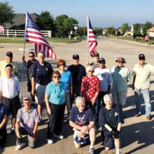 Armed Forces Day flag display volunteers