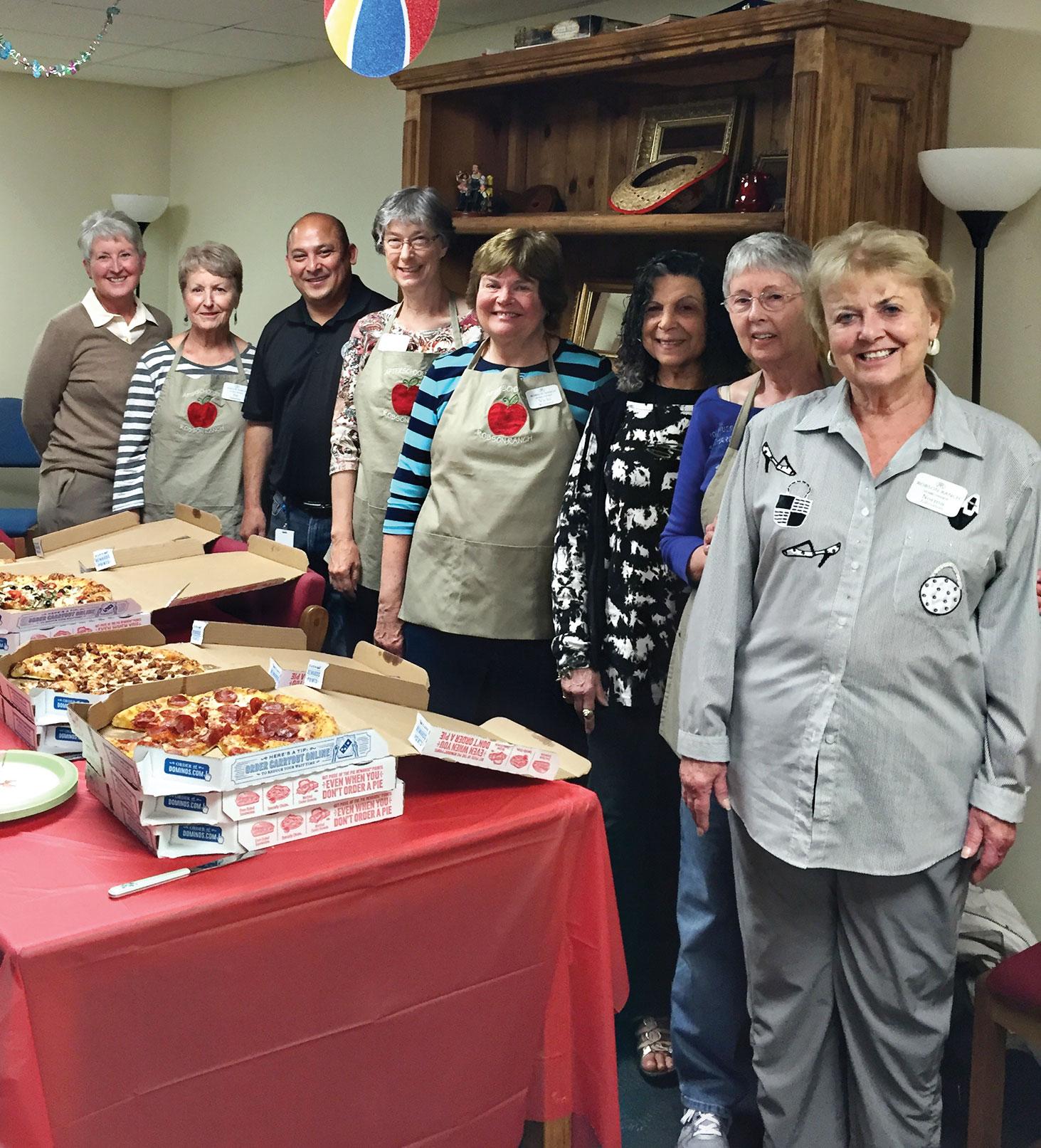 Lavelle Carlson, Pat Hamblin, Principal Richard Gonzales, Cathy Harden, Vicki Williams, Sue Cousin, Helen Allen and Norma Johnston