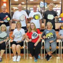 Dr. Ford Roberson and the May graduates of the Pickleball Academy