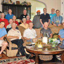 The men's Bible study group