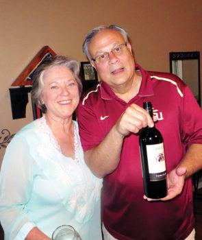 Sommelier Charles and his best mate, Joan