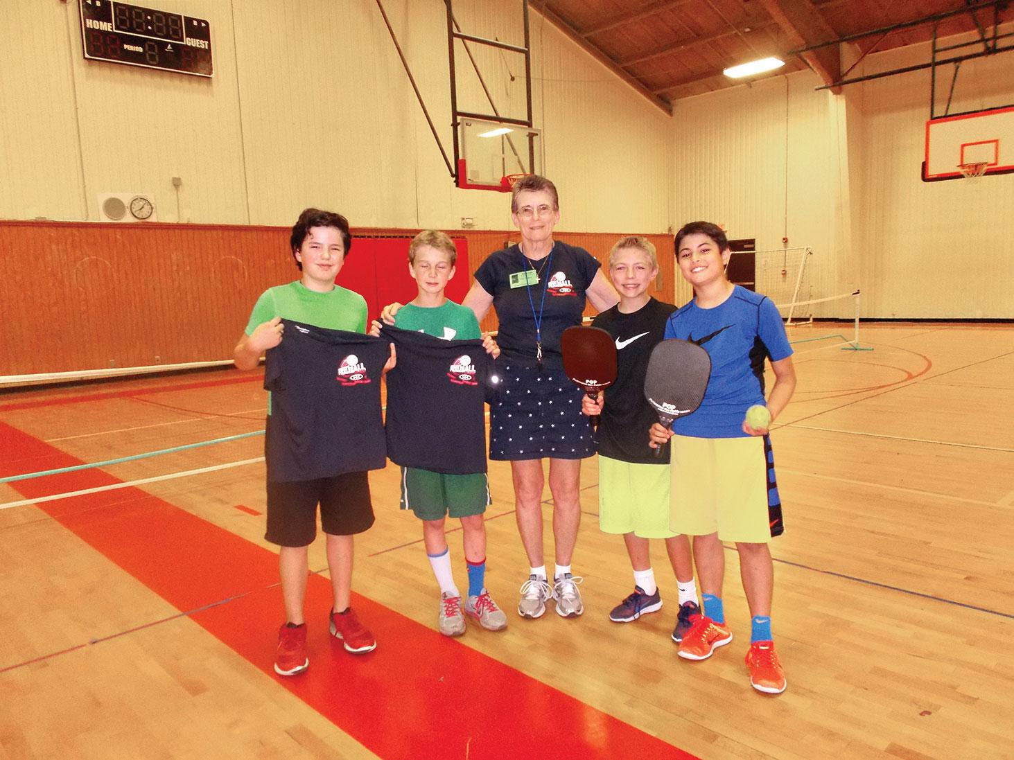 Argyle Intermediate School 5th grade pickleball tournament players