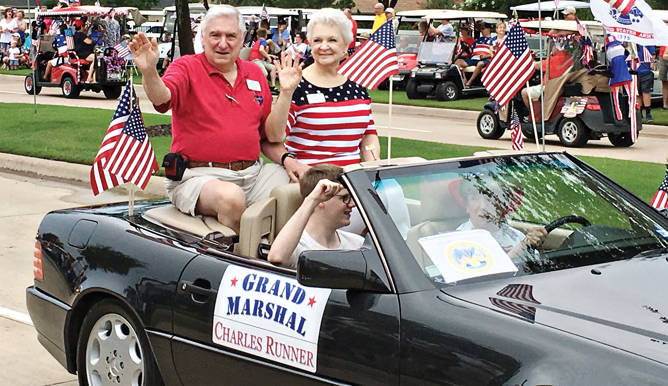 Grand Marshal Chuck Runner and wife Barbara