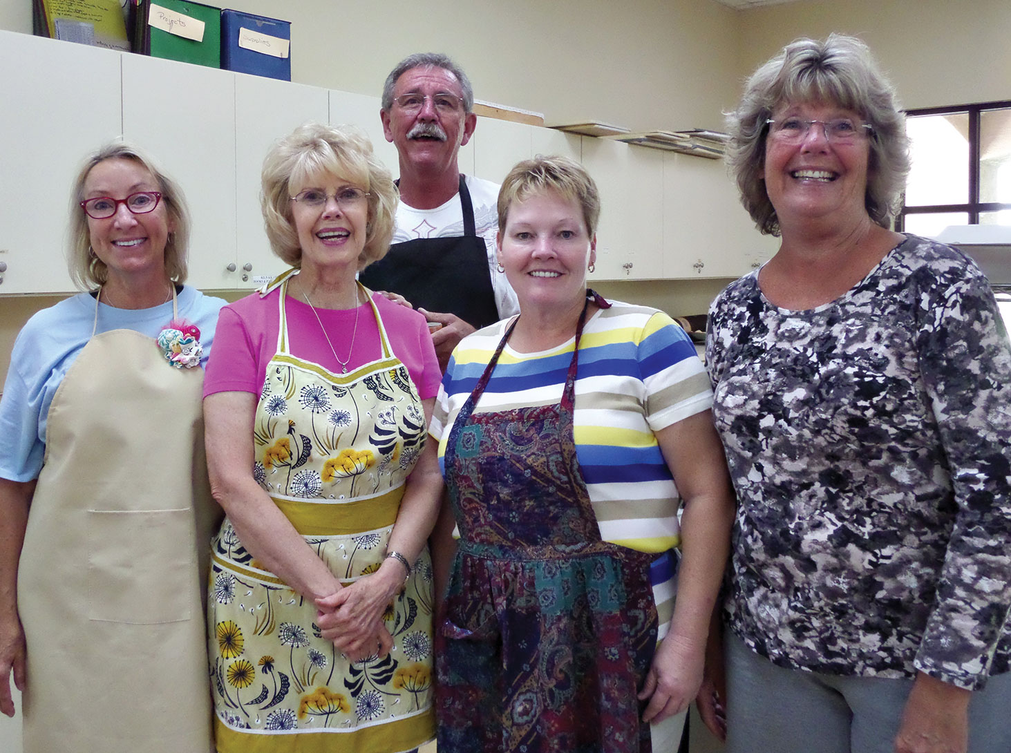 New members, front: Helen Justen, Janet Seery, Nancy Rogus and Kathy Todd; back, Mike Shippy