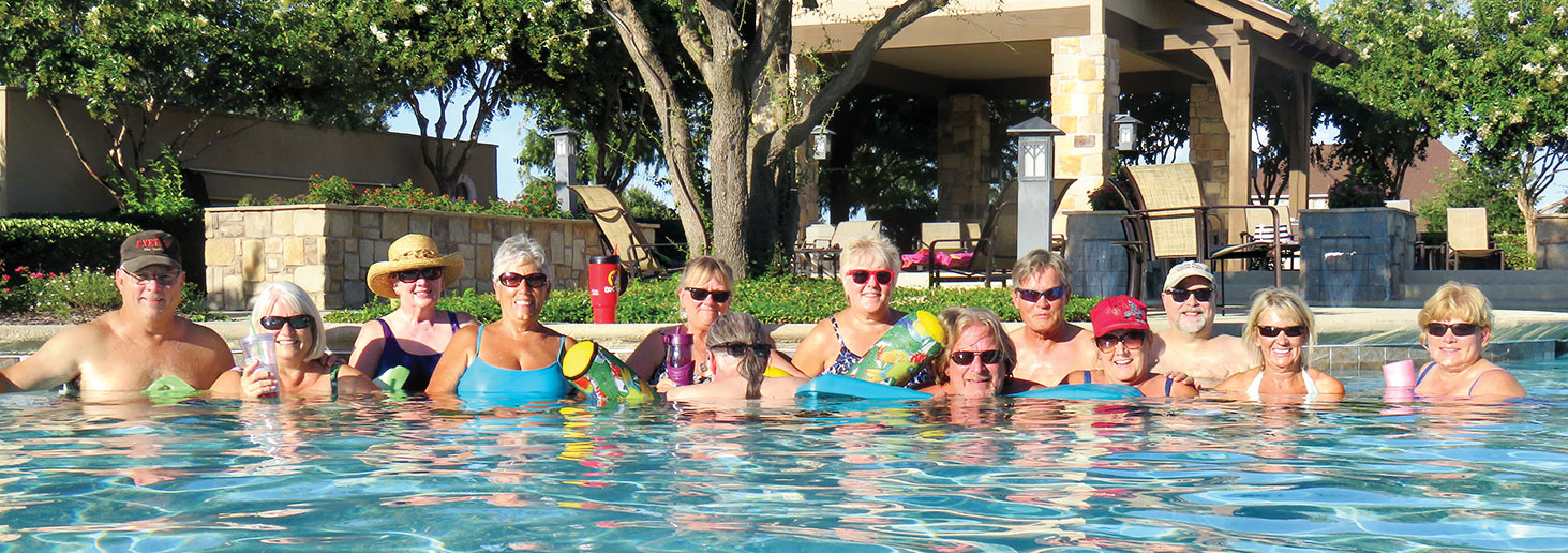The Baby Boomers at Robson Ranch cool down at the pool on Monday nights.