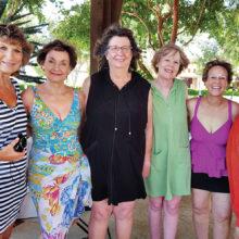 Left to right: Phyllis Ayers, Peggy Crandell, Tawana Arnett, Rosemary Weinstein, Carol Solow and Betty Gardner
