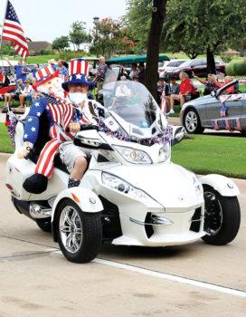 Riders at the 4th of July parade