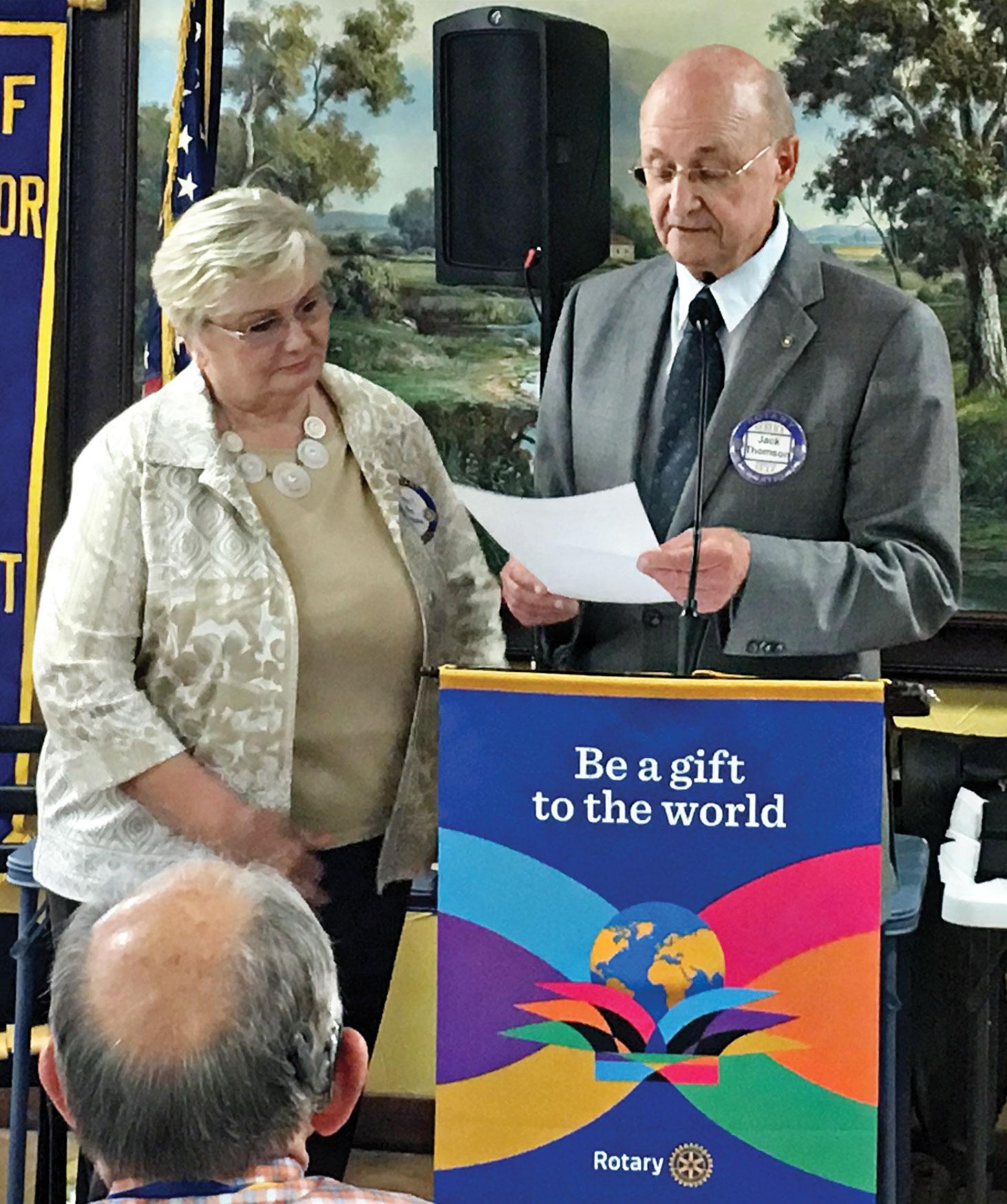 Carrell Ann Simmons receives the 2016 Brock Community Service Award.