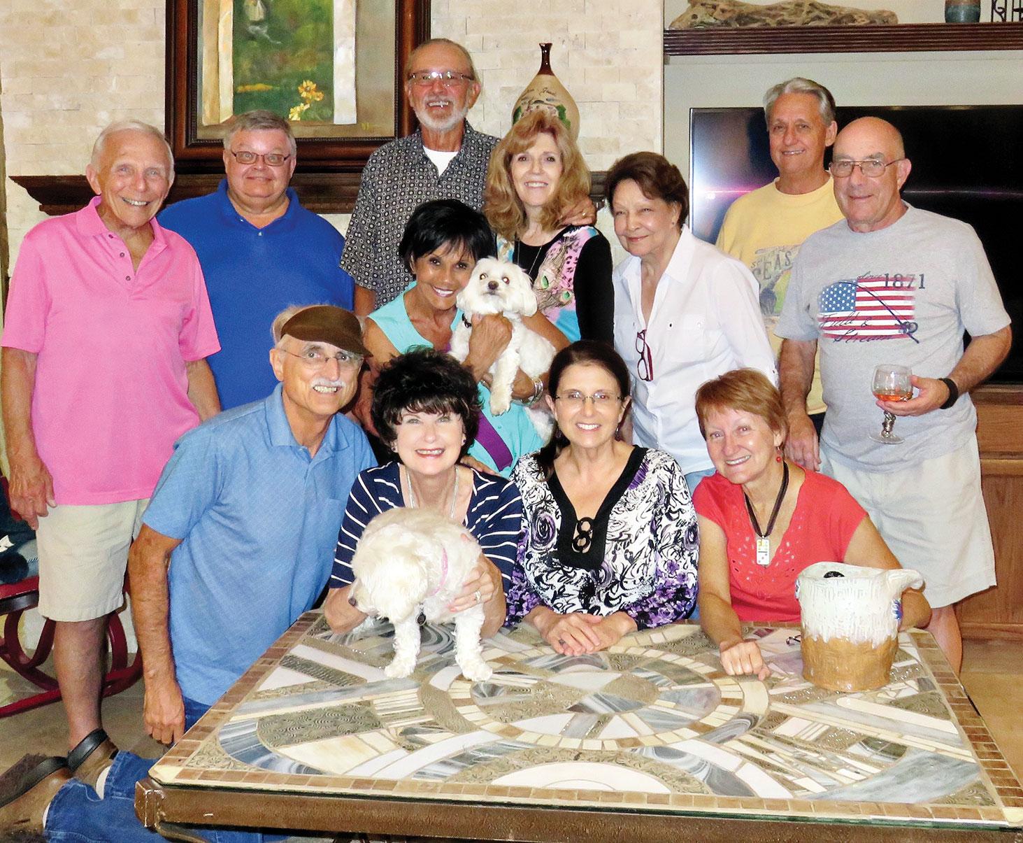 Front row: Angel Bone; second row: Nancy Toppan, Kathy Heberlein and Melodye Rogers; third row: Pete Toppan, Vickie and Nizhoni Bone, Joyce Frey, Millie and Mike Aramanda; fourth row: Jere Bone, Ed Heberlein, Bill Frey and Bobby Rogers