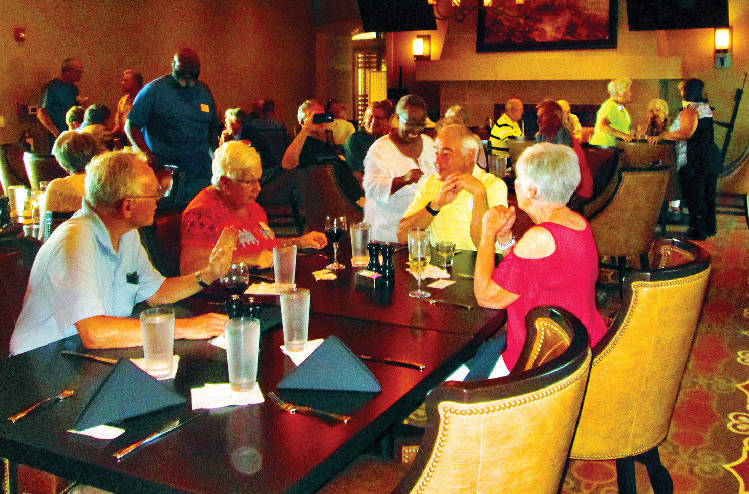 Unit 17 residents at the Wildhorse Grill