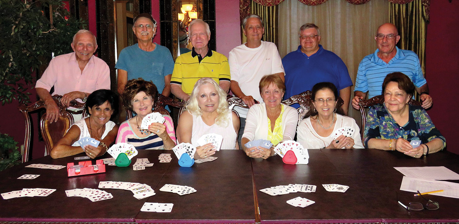 Game Gang couples, left to right: Vickie and Jere Bone, Nancy and Pete Toppan, Viv and Al Wright, Melodye and Bobby Rogers, Kathy and Ed Heberlein and Millie and Mike Aramanda.