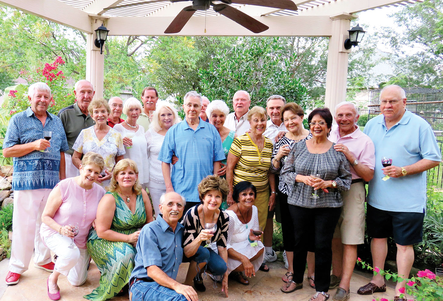 Left to right, front row: Brenda McKenzie, Susan Parker, Pete Toppan, Nancy Toppan and Vickie Bone; middle row: Eileen Whittaker, Beverlee Deardorff, Vivian Wright, Bill Fideli, Bernadette Fideli, Cherie Snowden, Millie Aramanda, Rupa Mathur, Jere Bone and CT Robertson; back row: Alfred Van Good, Jim Fox, Mike Aramanda, David Parker, Al Wright, Frank Deardorff and Charlie Snowden