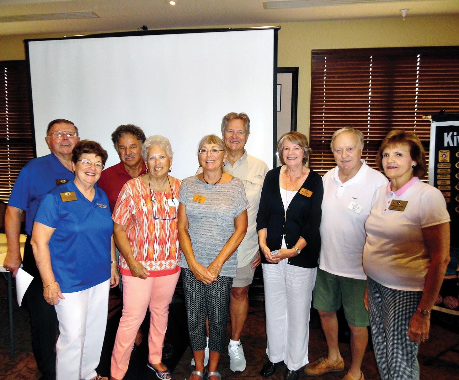 Proud Kiwanians: Galbraiths, Taschners, Barringers, Pococks and President Barbara Leurig