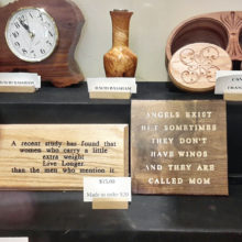 Available at the Craft Fair, clocks