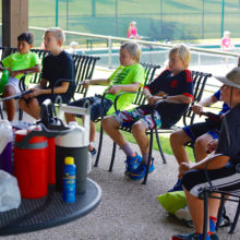 Instructional phase of Pickleball Camp