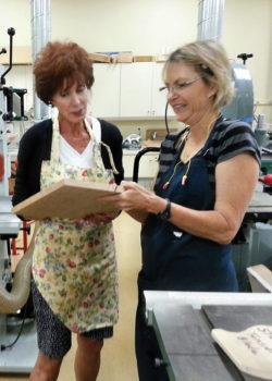 Sue Wells and Loucille Battig