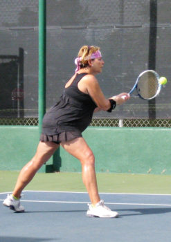 Champion Lynne Hyatt demonstrating her form