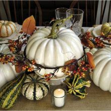 A Thanksgiving themed tablescape