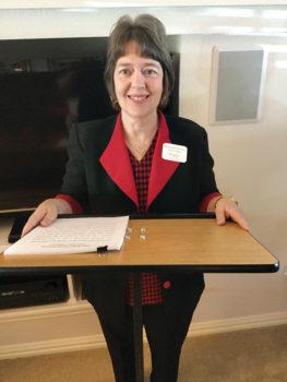 Speaker Peggy Zilinsky