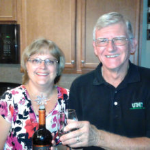 Hosts Debbie and Randy Johnston serving acclaimed Chilean wines