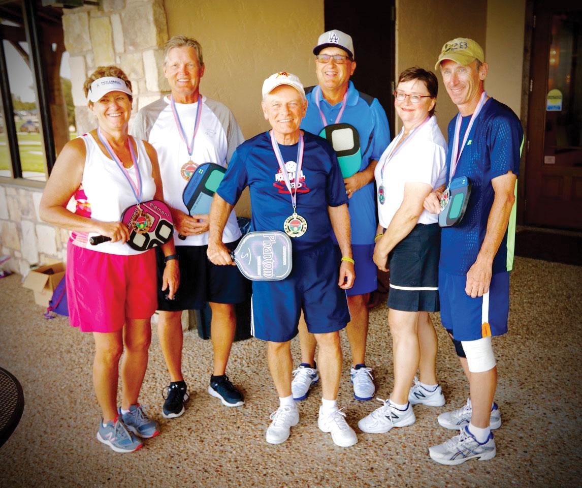 Mark Kellam, Mike Clements, Shirley Waterhouse, Steve Beggs, Larry Nortunen and Susan Beggs