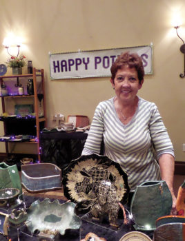 (Left) Eve Draper was chairman of the fair for Happy Potters.