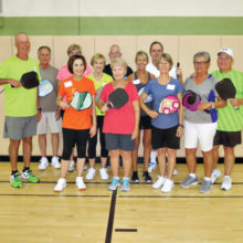 Members of the The October Pickleball Academy