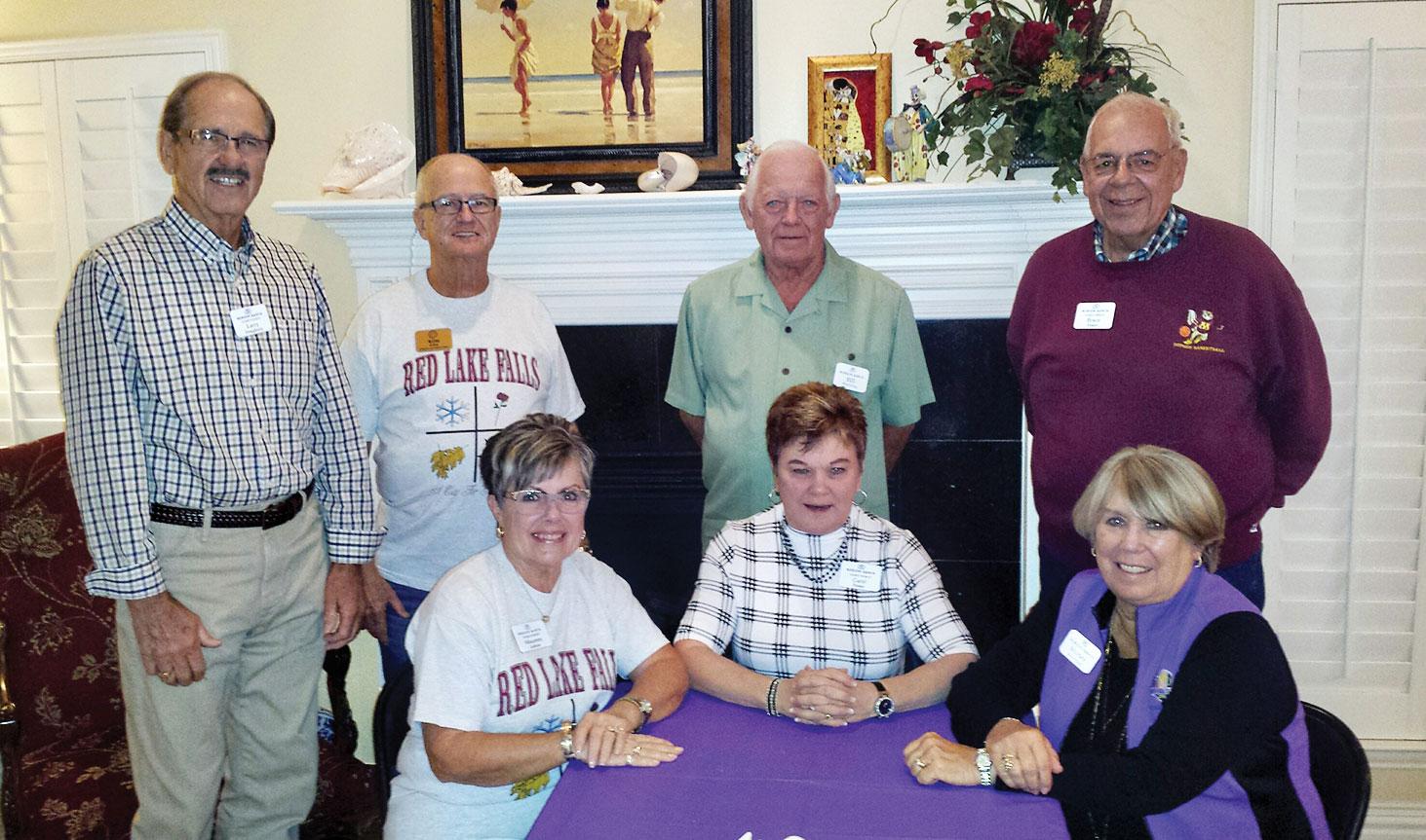 Left to right: Larry Dougherty, Ron Lehrer, Bill Revering, Bruce Foster, Maureen Lehrer, Carol Foster and Shirley Revering
