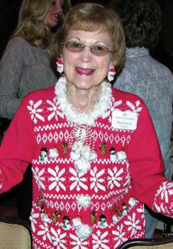 Barbara Hicks enjoying the December program