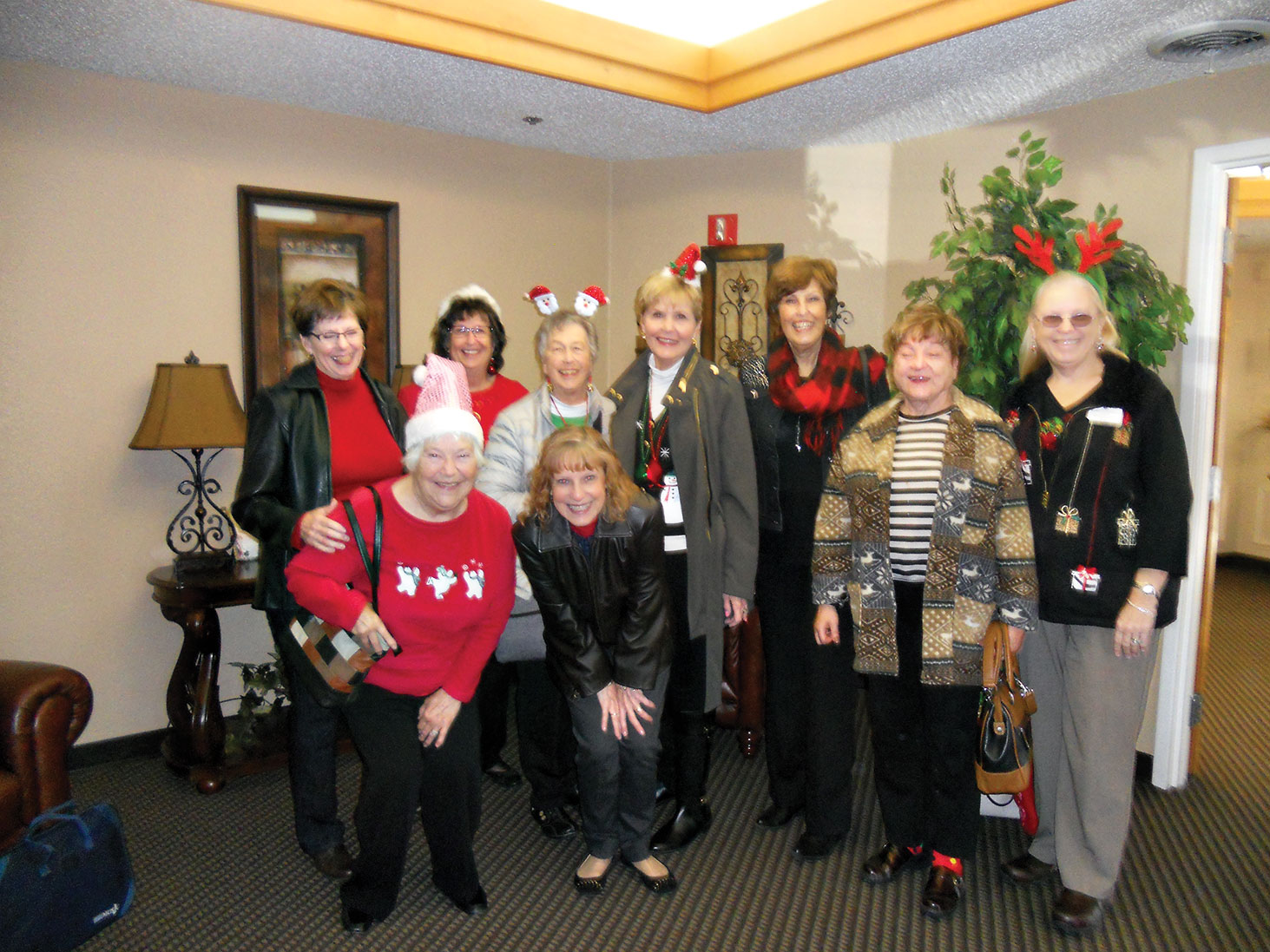 Rockin' Red Ranchers sang Christmas Carols and baked cookies for the residents of Denton Rehab and Nursing Center.