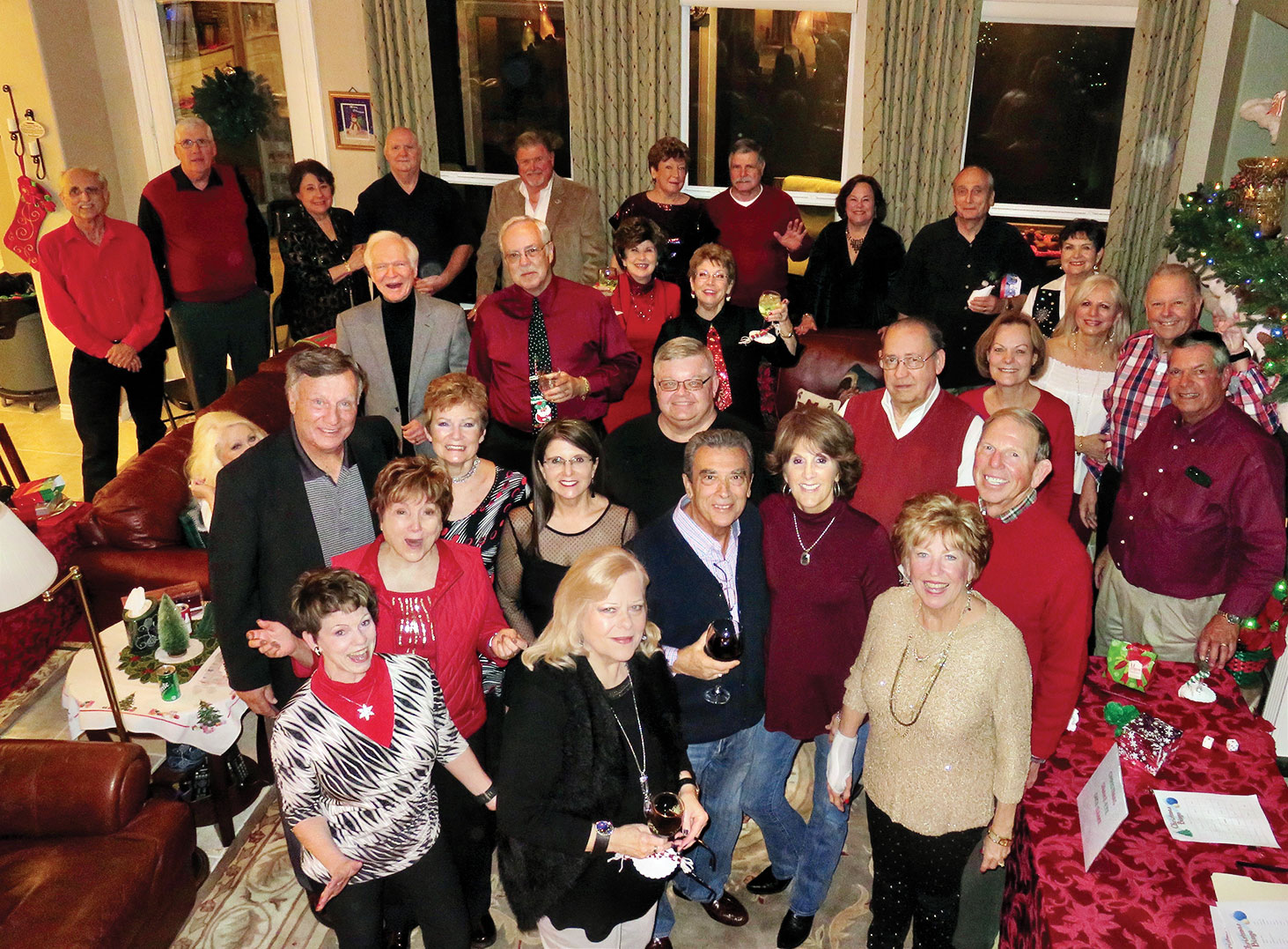 Attendees of the Gilberti's gathering