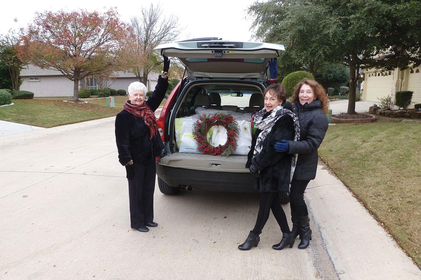 Sally Baggott, Peggy Crandell, Judy Ondina