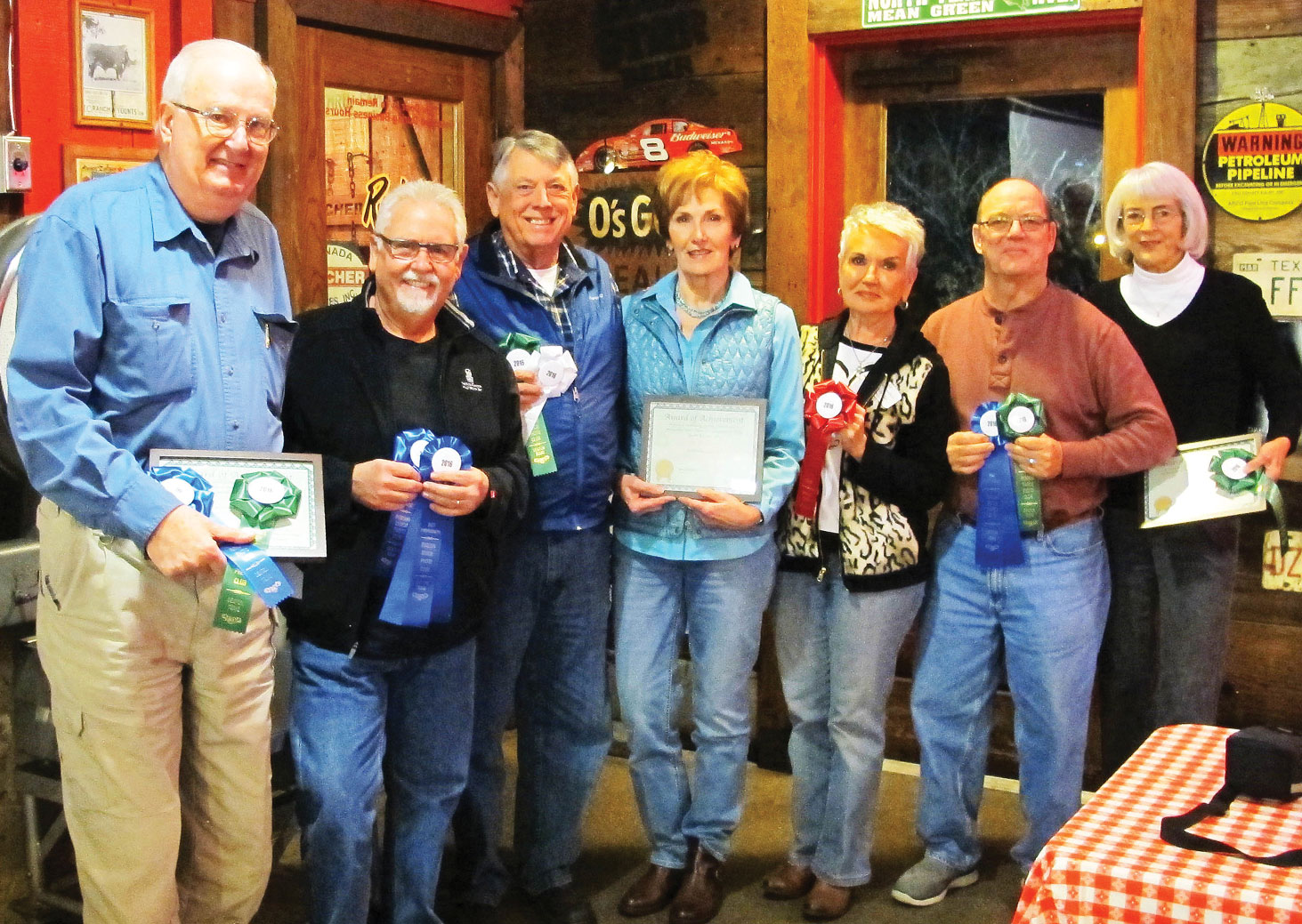 Image competition winners, left to right: Terry Brown, Randy Hatcher, Ron Ice, Ann Brackeen, Rhonda Pummill, Pat Powers and Jan Goodwin; not pictured: Jack Twiggs and Bill Cashin