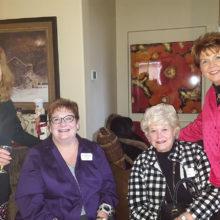 Rockin' Red Ranchers Joyce Frey, Gayle Coe, Joan Krause and Mary Ann Carroll enjoy the festivities.