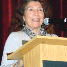 Judy Ondina discussing the 2017 service goals