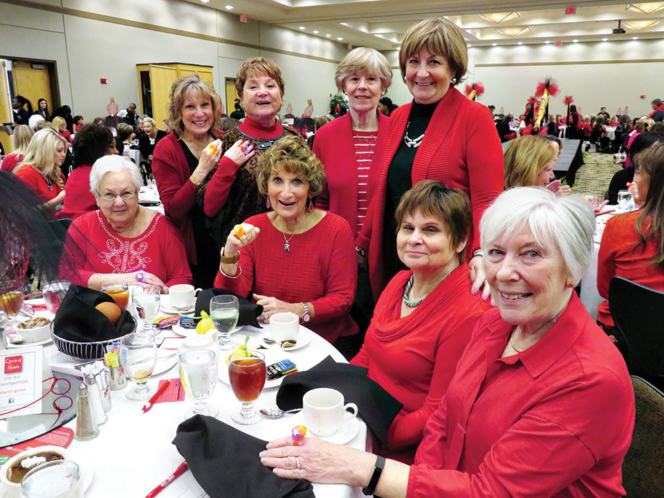 Rockin' Red Ranchers supporting the American Heart Association's Go Red for Women movement.