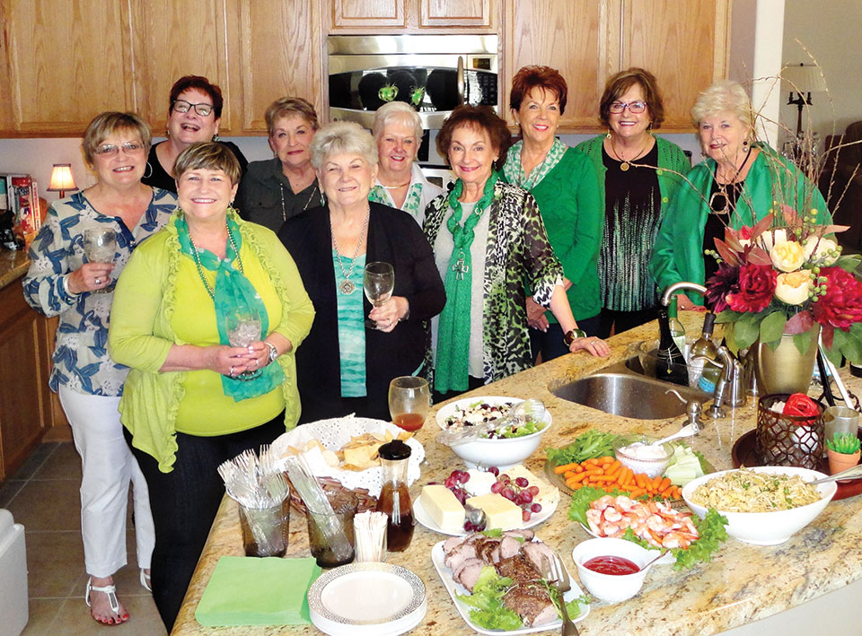 LOLs gathered for St. Patrick's Day brunch.