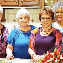 Sally Baggott, Jan Utzman, Lore Carr and Arlene Stotts