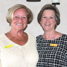 Diane Bent, president, on the right and Donna Phillips, vice-president of the RRWGA