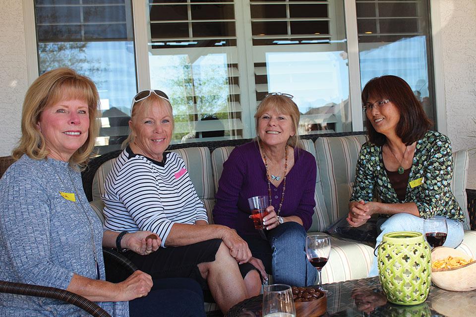 From left: Linda Klovans, Susan Miloser, Victoria Pettigrew and OkChaw Cummings