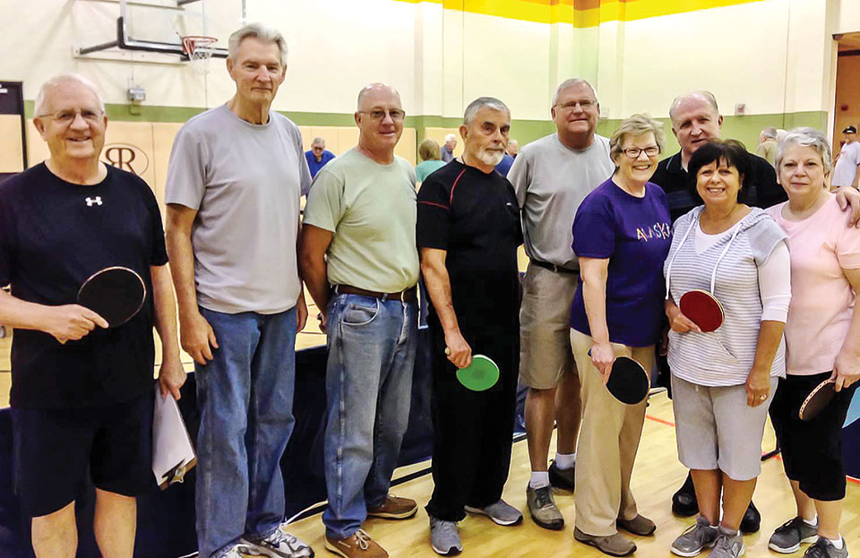 Students and coaches from right to left: Bill Cashin, Coach, Jerry Baynes, Jim Forsyth, Richard Monohan, Gene Mason, Jeanne Barger, Tom Taylor, Coach, Rosemary Simecek, and Sue Stark. Bob Duplantis and Ivo Diabolic are not in the picture.