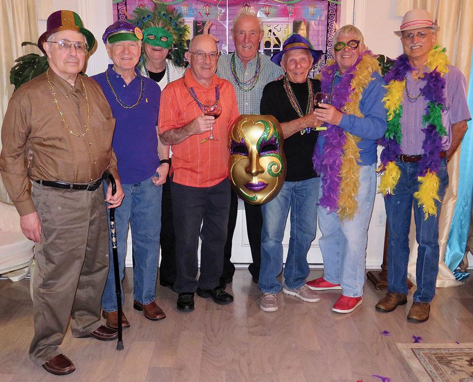 Left to right: Bill Fideli, Al Wright, Frank Deardorff, Mike Aramanda, Jim Fox, Jere Bone, Alfred VanGool and Pete Toppan
