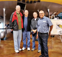 Left to right: Ray Peters, Rich Lipke, Ben Tillman and F C Levrier