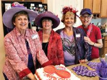 Lynne Henderson, Jodale Hull, Vicky Taylor and Valdeva Bulls and the Birthday Cake