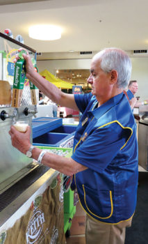 Kiwanian tap meister serving up local craft beers