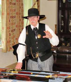 Dave MacDonald giving an overview of old west guns